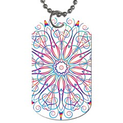 Frame Star Rainbow Love Heart Gold Purple Blue Dog Tag (one Side)