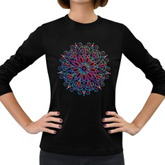 Frame Star Rainbow Love Heart Gold Purple Blue Women s Long Sleeve Dark T Shirts by Alisyart