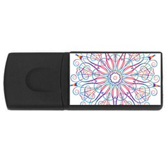 Frame Star Rainbow Love Heart Gold Purple Blue Usb Flash Drive Rectangular (4 Gb) by Alisyart