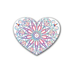 Frame Star Rainbow Love Heart Gold Purple Blue Heart Coaster (4 Pack)