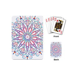 Frame Star Rainbow Love Heart Gold Purple Blue Playing Cards (mini)  by Alisyart