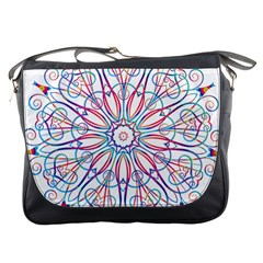 Frame Star Rainbow Love Heart Gold Purple Blue Messenger Bags by Alisyart