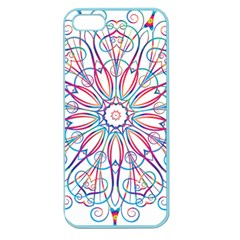 Frame Star Rainbow Love Heart Gold Purple Blue Apple Seamless Iphone 5 Case (color) by Alisyart