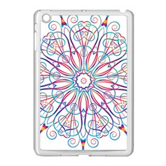 Frame Star Rainbow Love Heart Gold Purple Blue Apple Ipad Mini Case (white) by Alisyart