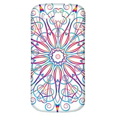 Frame Star Rainbow Love Heart Gold Purple Blue Samsung Galaxy S3 S Iii Classic Hardshell Back Case by Alisyart