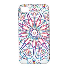 Frame Star Rainbow Love Heart Gold Purple Blue Apple Iphone 4/4s Hardshell Case With Stand by Alisyart