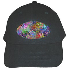 Glass Rainbow Color Black Cap by Alisyart