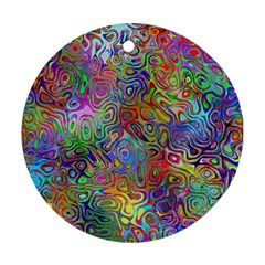 Glass Rainbow Color Ornament (round) by Alisyart