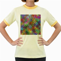 Glass Rainbow Color Women s Fitted Ringer T Shirts