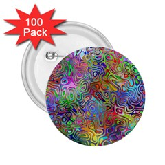 Glass Rainbow Color 2 25  Buttons (100 Pack)  by Alisyart