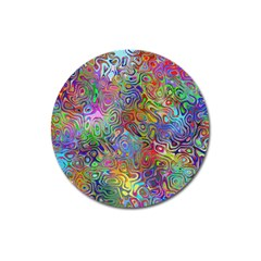 Glass Rainbow Color Magnet 3  (round) by Alisyart
