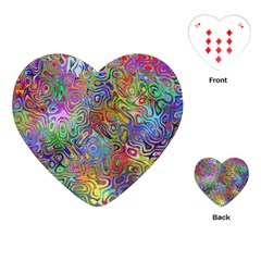 Glass Rainbow Color Playing Cards (heart)  by Alisyart