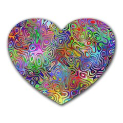 Glass Rainbow Color Heart Mousepads by Alisyart