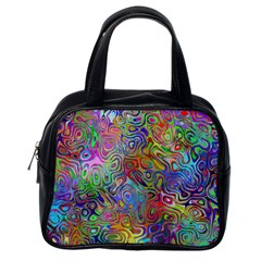 Glass Rainbow Color Classic Handbags (one Side)