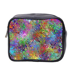 Glass Rainbow Color Mini Toiletries Bag 2 Side by Alisyart