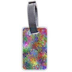 Glass Rainbow Color Luggage Tags (two Sides) by Alisyart