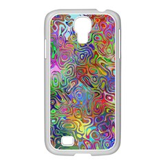 Glass Rainbow Color Samsung Galaxy S4 I9500/ I9505 Case (white) by Alisyart