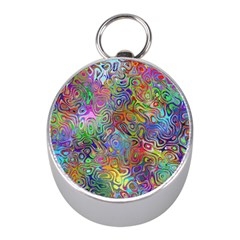 Glass Rainbow Color Mini Silver Compasses by Alisyart