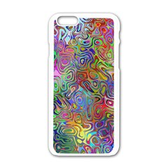 Glass Rainbow Color Apple Iphone 6/6s White Enamel Case by Alisyart
