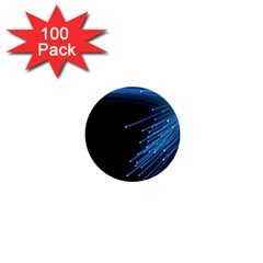 Abstract Light Rays Stripes Lines Black Blue 1  Mini Buttons (100 Pack)  by Alisyart