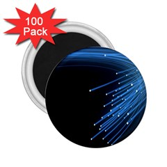 Abstract Light Rays Stripes Lines Black Blue 2 25  Magnets (100 Pack)  by Alisyart
