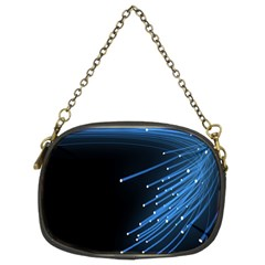Abstract Light Rays Stripes Lines Black Blue Chain Purses (two Sides)  by Alisyart