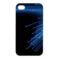 Abstract Light Rays Stripes Lines Black Blue Apple Iphone 4/4s Hardshell Case by Alisyart