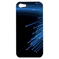 Abstract Light Rays Stripes Lines Black Blue Apple Iphone 5 Hardshell Case by Alisyart