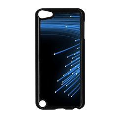 Abstract Light Rays Stripes Lines Black Blue Apple Ipod Touch 5 Case (black) by Alisyart
