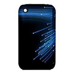 Abstract Light Rays Stripes Lines Black Blue Iphone 3s/3gs by Alisyart