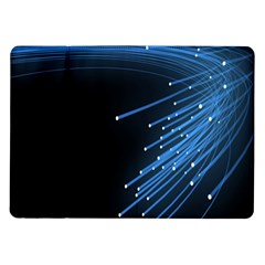 Abstract Light Rays Stripes Lines Black Blue Samsung Galaxy Tab 10 1  P7500 Flip Case