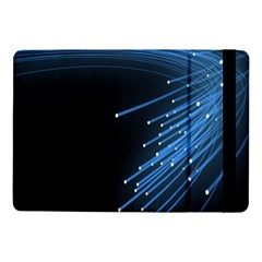 Abstract Light Rays Stripes Lines Black Blue Samsung Galaxy Tab Pro 10 1  Flip Case by Alisyart
