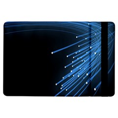Abstract Light Rays Stripes Lines Black Blue Ipad Air Flip