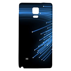 Abstract Light Rays Stripes Lines Black Blue Galaxy Note 4 Back Case by Alisyart