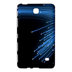 Abstract Light Rays Stripes Lines Black Blue Samsung Galaxy Tab 4 (7 ) Hardshell Case  by Alisyart