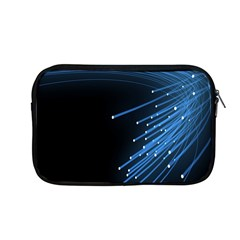 Abstract Light Rays Stripes Lines Black Blue Apple Macbook Pro 13  Zipper Case by Alisyart