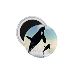Whale Mum Baby Jump 1 75  Magnets