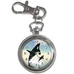 Whale Mum Baby Jump Key Chain Watches by Alisyart