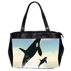 Whale Mum Baby Jump Office Handbags (2 Sides)  by Alisyart