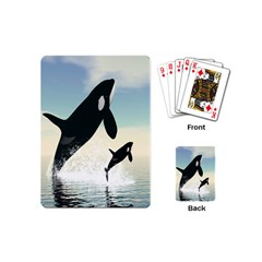 Whale Mum Baby Jump Playing Cards (mini)
