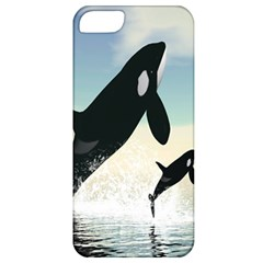 Whale Mum Baby Jump Apple Iphone 5 Classic Hardshell Case
