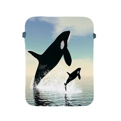 Whale Mum Baby Jump Apple Ipad 2/3/4 Protective Soft Cases