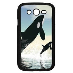 Whale Mum Baby Jump Samsung Galaxy Grand Duos I9082 Case (black) by Alisyart