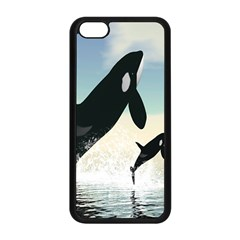 Whale Mum Baby Jump Apple Iphone 5c Seamless Case (black) by Alisyart