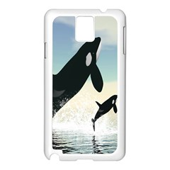 Whale Mum Baby Jump Samsung Galaxy Note 3 N9005 Case (white) by Alisyart