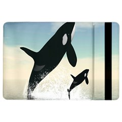 Whale Mum Baby Jump Ipad Air 2 Flip by Alisyart