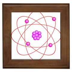 Atom Physical Chemistry Line Red Purple Space Framed Tiles