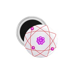 Atom Physical Chemistry Line Red Purple Space 1 75  Magnets by Alisyart