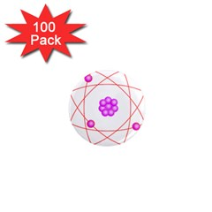 Atom Physical Chemistry Line Red Purple Space 1  Mini Magnets (100 Pack)  by Alisyart