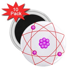 Atom Physical Chemistry Line Red Purple Space 2 25  Magnets (10 Pack)  by Alisyart